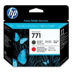 Tête d'impression noir mat / rouge chromatique HP 771