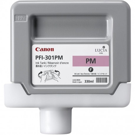 Cartouche d'encre Canon PFI-301PM - Magenta photo - 330 ml