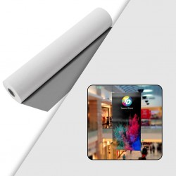 Rouleau film Polyester Dos gris - Blanc Satin 190 µ - 914 mm x 30 m