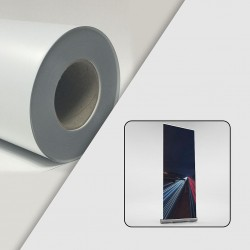 Rouleau film PP+PET blanc mat Blockout 240µ - 0,914 x 50 m