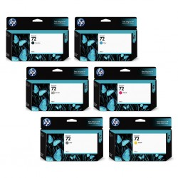 Pack 6 x cartouches HP 72 130 ml