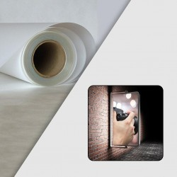 Rouleau Film Polyester Backlit Semi Mat 210µ - 1,370 x 50 m